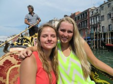 Micaela and Julia on the Grand Canal