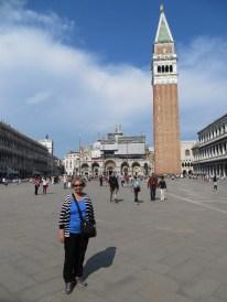 Kathy at the Piazza San Marco