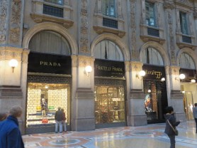 Prada and others in the Galleria