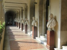 Courtyard busts