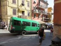 The shuttle bus from the hotel to Riomaggiore