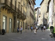 Looking up Corso Italia towards the OUA entrance
