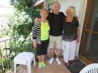 Kathy, Arnie, and Elke Aulmann