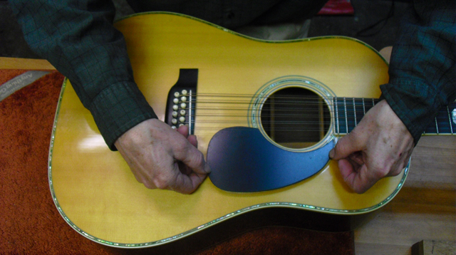 replace the pick guard on a martin 12 string authorized martin service center arnie gamble