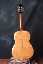 Classical guitar with maple back by Arnie Gamble.