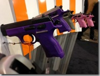 Brightly colored real guns