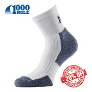 1000 Mile Ultra Performance Sock White SALE insta
