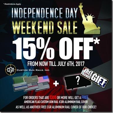 Independence Weekend Sale 2017