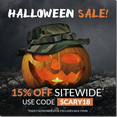 Halloween Sale 2018 Instagram