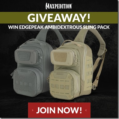 Maxpedition Giveaway Instagram