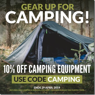 Camping Sale 2019 Instagram