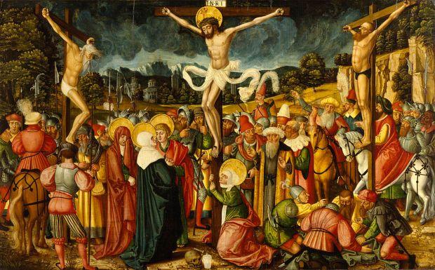 Krossfesting Jesú. Málverk frá 16. öld eftir Peter Gertner.