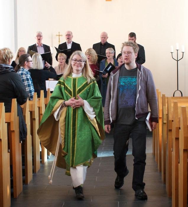 Kristín Þórunn og Kári ganga út
