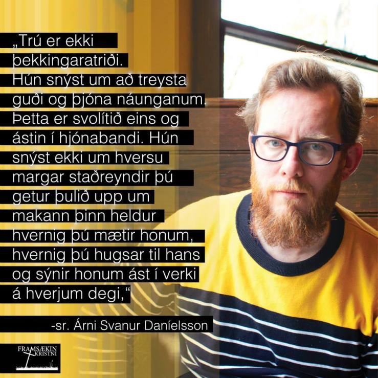 Framsækin kristni, Árni Svanur og trúin