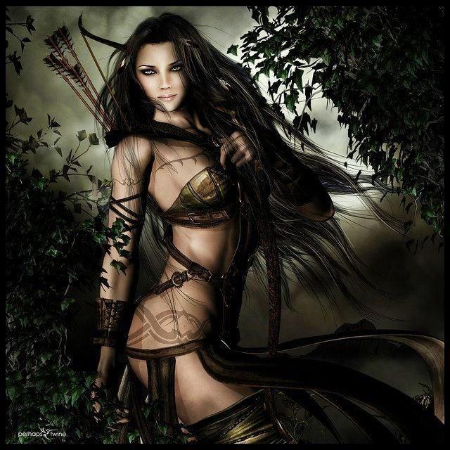 Ártemis - A deusa caçadora (Arte de dark knight wolf).