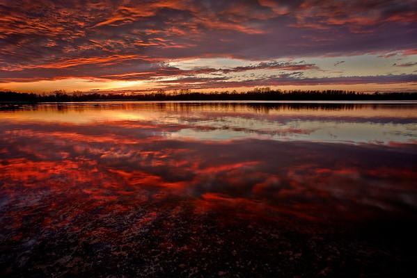 Sonnenuntergang bei Elchesheim-Illingen
