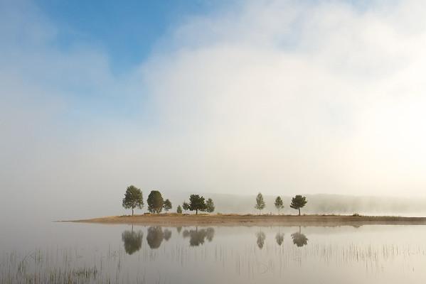 Morgenstimmung am Särnsjön, Österdalälven, Dalarna - Schweden