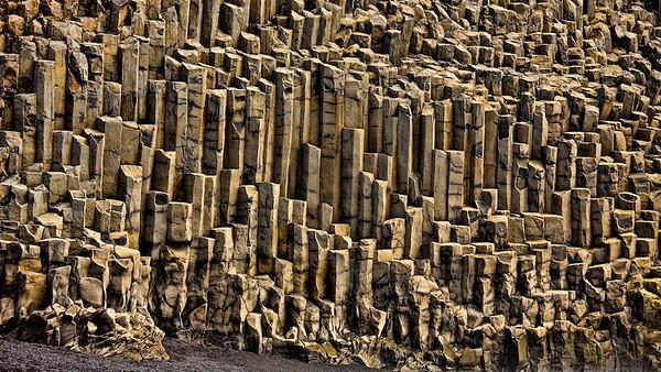 Basaltsäulen bei Vík í Mýrdal - Island