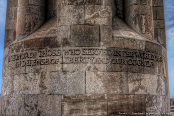 Kansas City WWI Liberty Memorial tower inscription