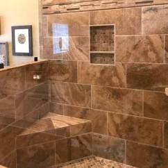 Kitchen Glass Tile Backsplash Kid Kitchens Professional & Shower Installation - Marietta ...