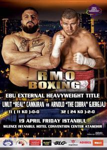"""Fight #35 Arnold """"The Cobra"""" Gjergjaj' vs Umut """"Real"""" Camkiran - Fight Plakat Istanbul"""
