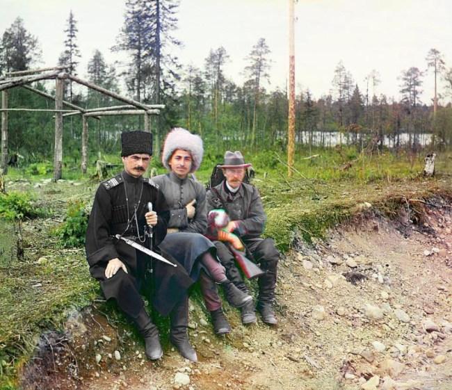 Pierwszy z prawej autor zdjęć - Сергей Михайлович Прокудин- Горский