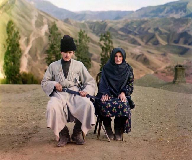 Dagestański mężczyzna i kobieta