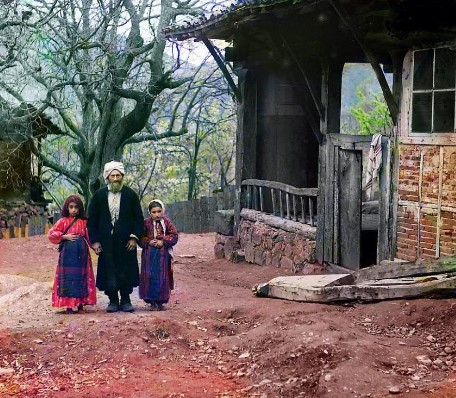Artvin - mułła z dwójką dzieci