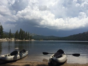 photo of kayaks at Kinney lakes