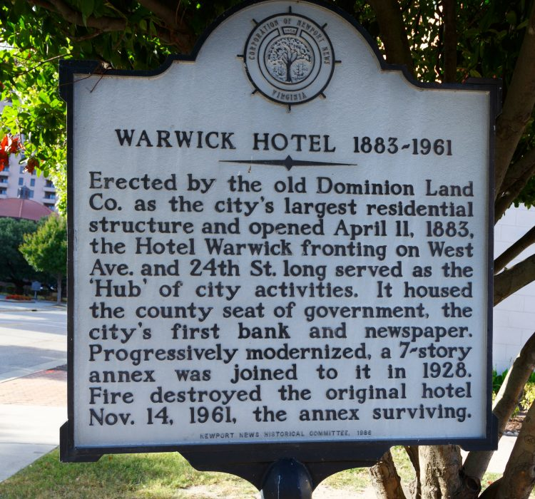 Warwick Historical Sign