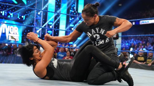 SHayna Baszler and Becky Lynch brawl