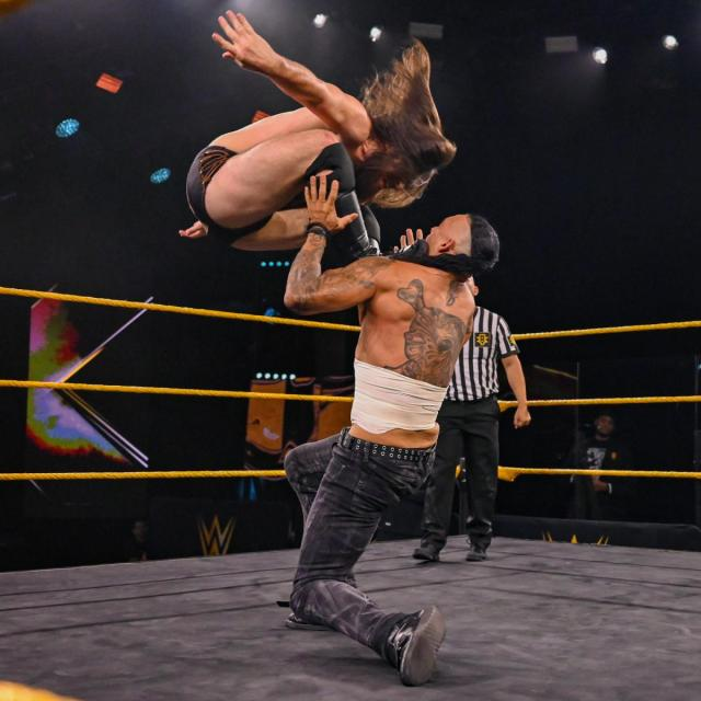 Cameron Grimes gives Damian Priest a Cave In