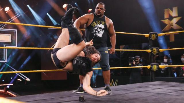 Keith Lee throws Cameron Grimes around