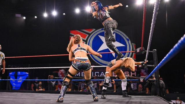 Mia Yim uses Tegan Nox as a springboard to get to Dakota Kai to kick off the Great American Bash