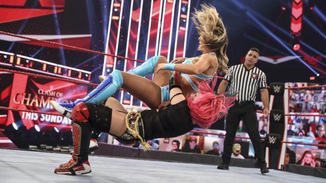 Asuka takes down Peyton Royce