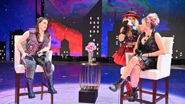 Lacey Evans interrupts Nikki Cross and Alexa Bliss on A Moment of Bliss