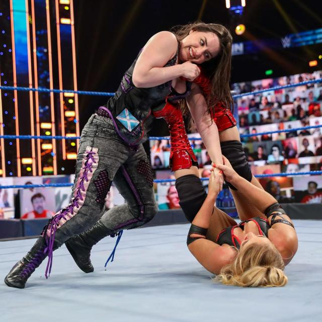 Nikki Cross and Lacey Evans