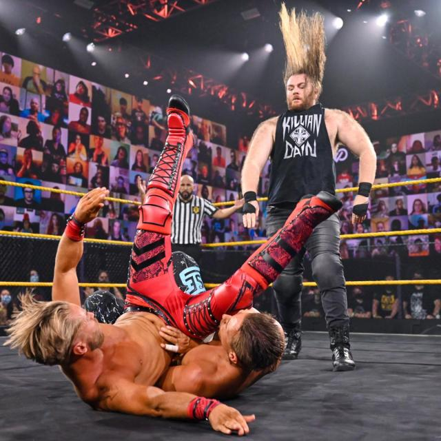 Killian Dain slams Drake Maverick onto Chase Parker