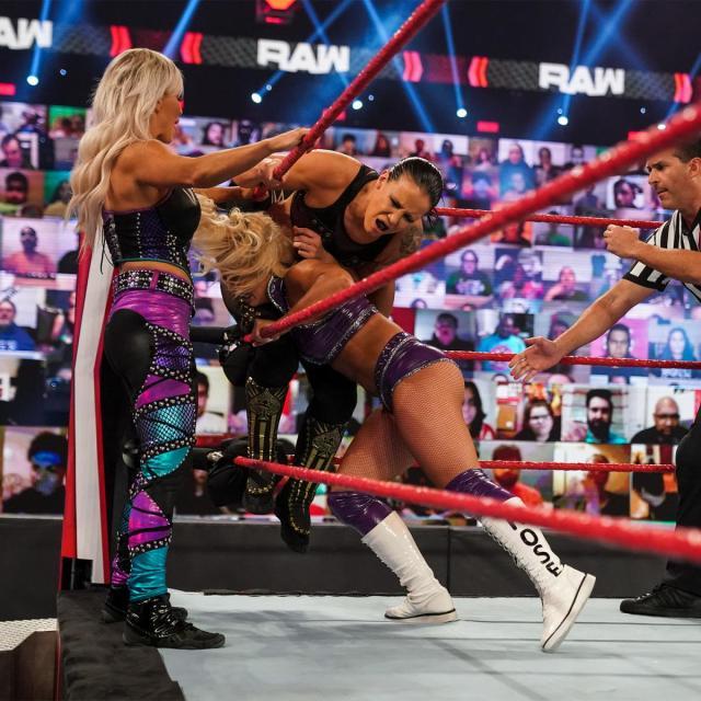 Dana Brooke, Mandy Rose, and Shayna Baszler