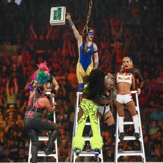 Nikki A.S.H. wins the MITB ladder match