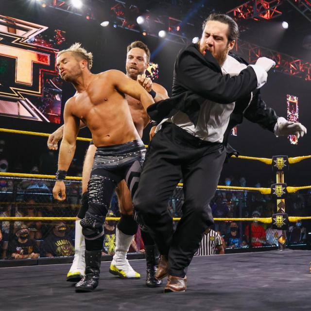 LA Knight forces Cameron Grimes to punch Drake Maverick