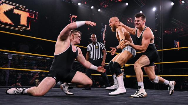 Brutus and Julius Creed destroy an opponent