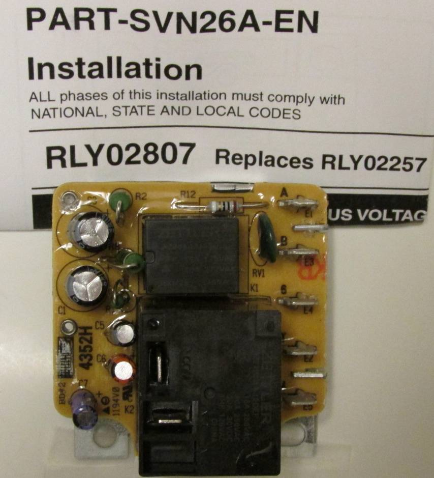 hight resolution of rly02807 american standard trane air handler fan time delay relay rh arnoldservice com american standard electric furnace wiring diagrams american standard