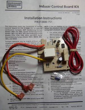 313680751 Bryant Carrier Furnace Inducer Control Board Kit