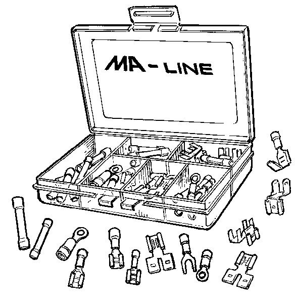 MA03752-2 MA-Line Solderless Terminal Repair Kit 40 Piece