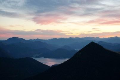 Walchensee am Simetsberg vorbei