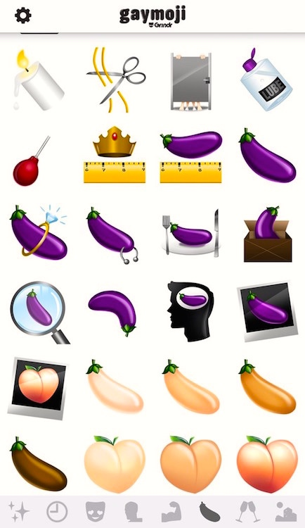 Gaymoji meanings grindr What does