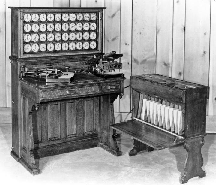 Hollereith's tabulating machine