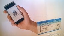 Bekende boarding pass op KLM doek
