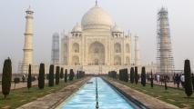 Klassiek shot van de Taj Mahal